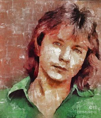 Star Trek Painting - David Cassidy, Singer And Actor by Mary Bassett