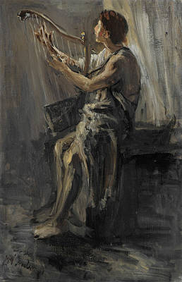 Jozef Israels Painting - David  by Jozef Israels