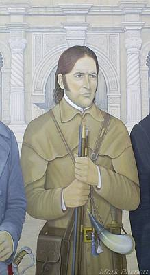 Republic Of Texas Painting - Davy Crockett by Mark Barnett