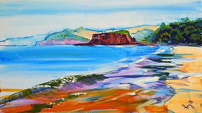 Mixed Media - Dawlish Warren Painting by Mike Jory