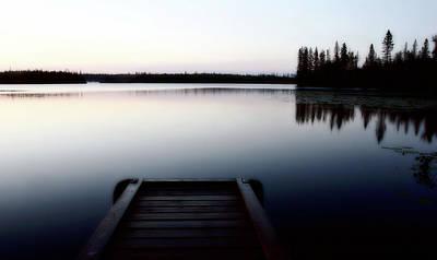 Dawn At Lynx Lake In Northern Saskatchewan Art Print