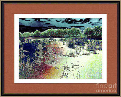 Digital Art - Dawn Breaking On South Florida Marshland by Merton Allen