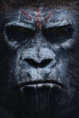 Scary Digital Art - Dawn Of The Planet Of The Apes 2014 by Fine Artist