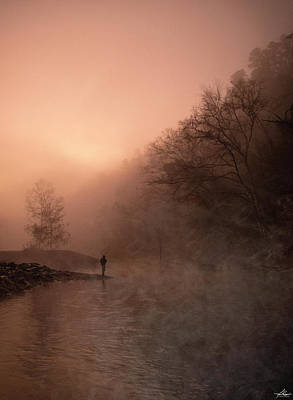 Mellow Yellow - Dawn on the Lower Mountain Fork River by Philip Rispin