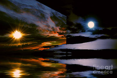 Photograph - Day And Night Welcome Beach by Elaine Hunter