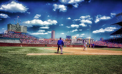Photograph - Day Game At Wrigley 1990s by L O C