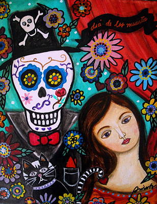 Mexican Painting - Day Of The Dead by Pristine Cartera Turkus