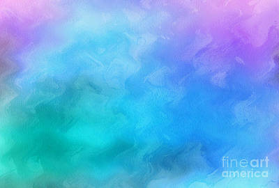 Colorful Abstract Digital Art - Daydreamer by Krissy Katsimbras
