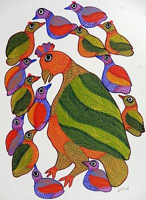 Gond Art Gallery Painting - Db 231 by Durga Bai