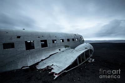 Wall Art - Photograph - Dc3 Plane Crash. by Sebastien Coell