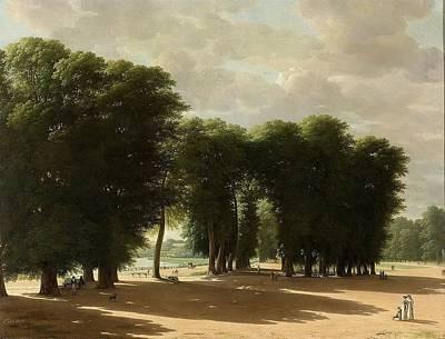 Het Painting - De Ingang Van Het Park Van St Cloud Te Parijs by Pieter Rudolph