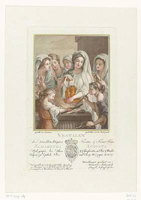 1781 Painting - De Vestaalse Maagden Offerend Bij Een Altaar by Heinrich Sintzenich