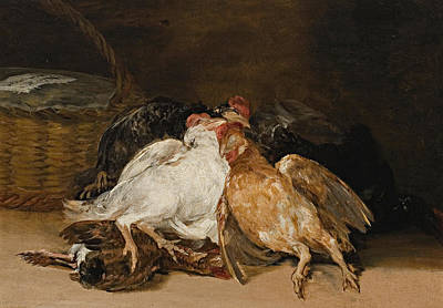 Chicken Painting - Dead Fowl by Francisco Goya
