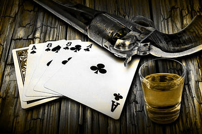 Wild Bill Hickok Photograph - Dead Man's Hand by Randall Nyhof