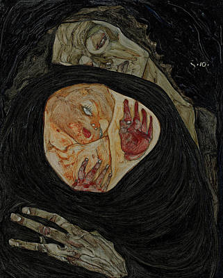 Expressionist Painting - Dead Mother I by Egon Schiele