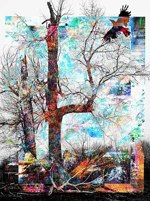 Dead Tree And Crow Art Print