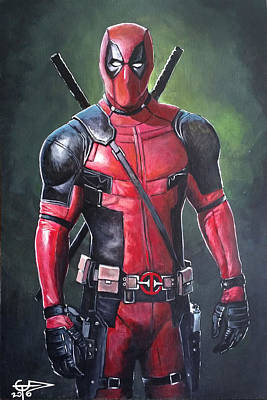 Painting - Deadpool by Tom Carlton
