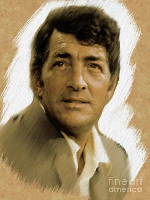 Painting - Dean Martin, Actor, Crooner by Mary Bassett