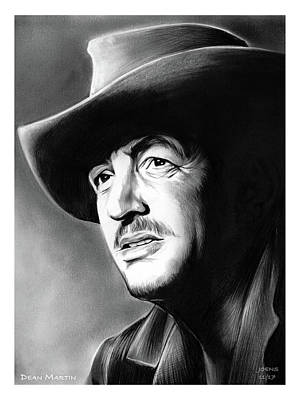 Drawing - Dean Martin by Greg Joens