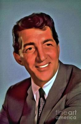 Dean Digital Art - Dean Martin, Hollywood Legend. Digital Art By Mb by Mary Bassett