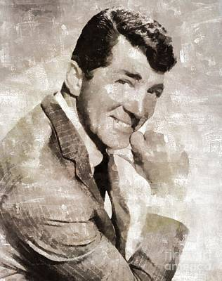 Musicians Royalty-Free and Rights-Managed Images - Dean Martin Vintage Hollywood Legend by Mary Bassett