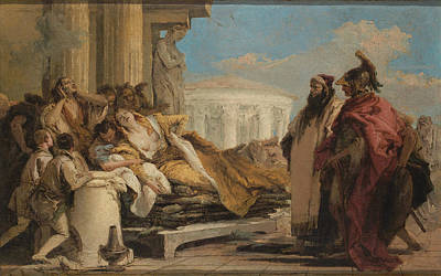 Painting - Death Of Dido by Giovanni Battista Tiepolo