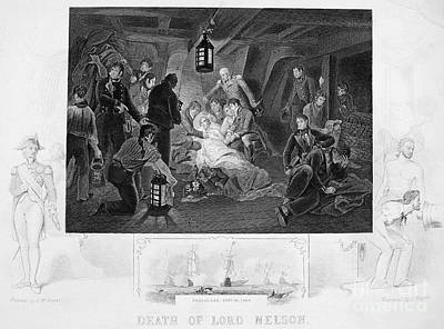 Hms Victory Photograph - Death Of Nelson, 1805 by Granger
