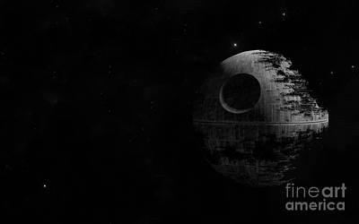 Vader Digital Art - Death Star by Baltzgar