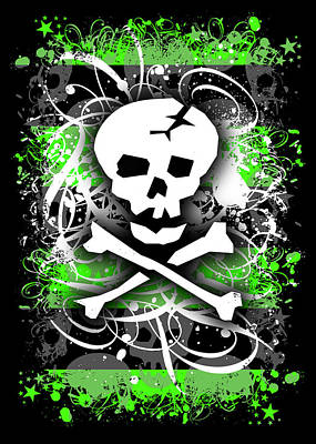 Deathrock Skull Art Print