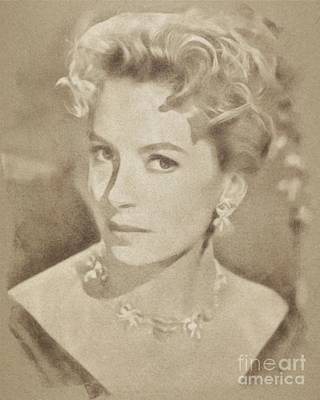Deborah Kerr, Vintage Hollywood Actress Art Print