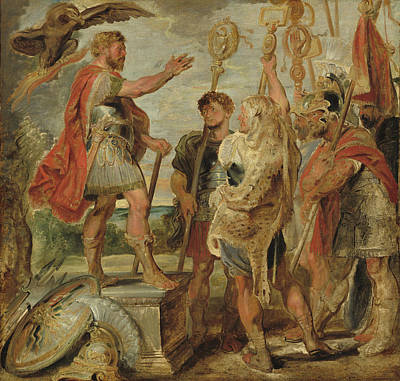 Painting - Decius Mus Addressing The Legions by Peter Paul Rubens