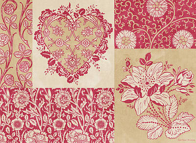 Quilted Tapestries Painting - Deco Heart Red by JQ Licensing