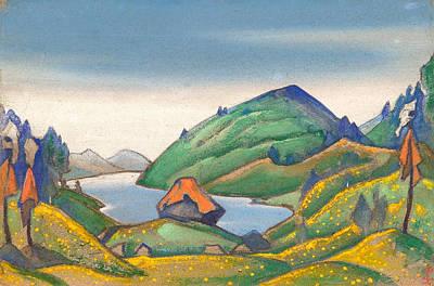 Spiritual Painting - Decor For Stravinsky's Ballet Le Sacre Du Printemps by Nicholas Roerich