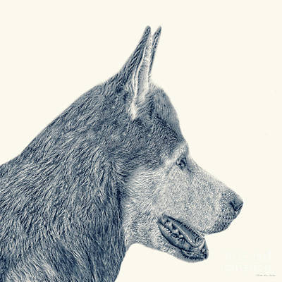 Painting - Decorative Digital Sketch, Man's Best Friend A7116 by Mas Art Studio