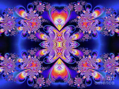 Fractal Geometry Digital Art - Deep Heart by Ian Mitchell