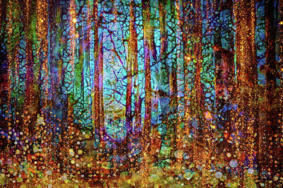 Mixed Media - Deep In The Woods by Lilia D
