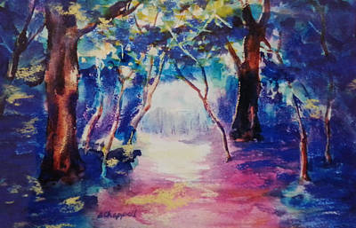 Painting - Deep Woods by Becky Chappell