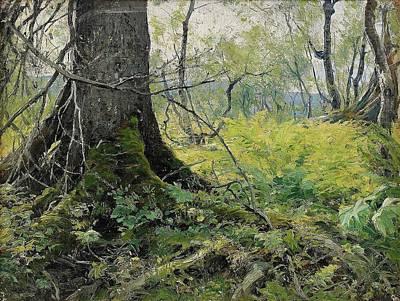Woods Painting - Deep Woods by Johan Tiren