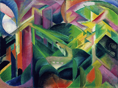Painting - Deer In A Monastery Garden by Franz Marc
