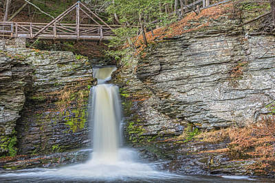 Photograph - Deer Leap Falls With Bridge by Angelo Marcialis