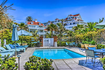 Photograph - Del Coronado Hotel Beach Village by David Zanzinger