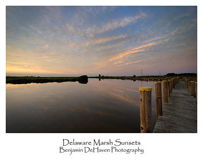 Landscape Photograph - Delaware Marsh Sunsets by Benjamin DeHaven
