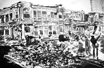Connaught Painting - Delhi_heart by Sanjeev Sinha