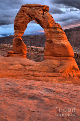 Photograph - Delicate Arch Portrait by Adam Jewell