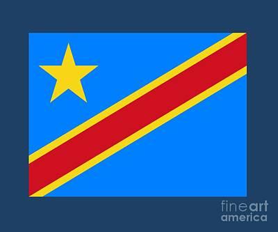 Democratic Republic Of The Congo Flag Original