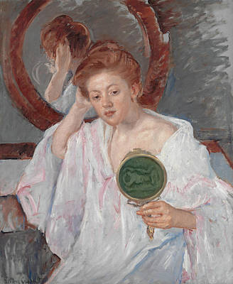 Lady Painting - Denise At Her Dressing Table by Mary Cassatt