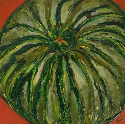 Painting - Denny's Melon by Gitta Brewster