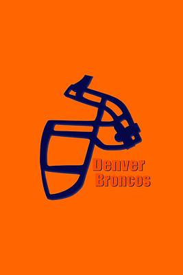 Denver Broncos Retro Shirt Art Print by Joe Hamilton