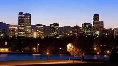 Photograph - Denver Colorado Mountain Skyline by Gregory Ballos