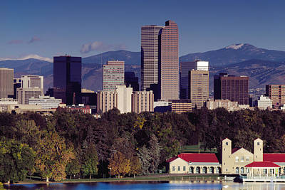 Denver Skyline Photograph - Denver In The Fall by Mountain Dreams